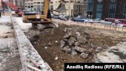 Демонтаж памятника Микаилу Мушвигу