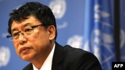 North Korean Ambassador to the United Nations Kim In Ryong suggested Washington and Seoul were behind the allegation.