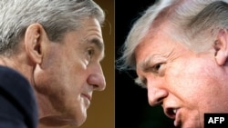 Special Counsel Robert Mueller (left) and U.S. President Donald Trump (combo photo)