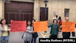 Azərbaycan jurnalistlərinin etiraz piketi