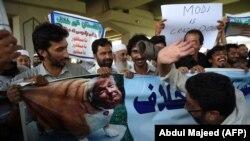 პაკისტანში გამართული საპროტესტო მსვლელობა