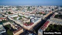 Pamje e një pjese të kryeqytetit Minsk në Bjellorusi