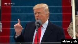 Первое выступление нового президента США Дональда Трампа