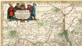 Фрагмент мапи України французького військового інженера і картографа Гійома Левассера де Боплана 1680 року (на основі генеральної карти 1648 року)
