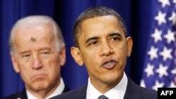Президент США Барак Обама и вице-президент Джо Байден