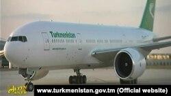 Illýustrasiýa suraty. Türkmenistanyň prezidentiniň uçary Türkmenabatda, fewral, 2018-nji ýyl.