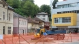 Work began last week on the Hand In Hand fountain and statue on a central square in Srebrenica.