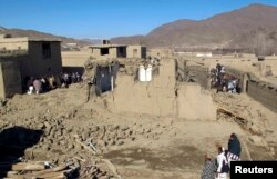 The site of a bomb blast in Sayad Abad district, Wardak province in 2013.