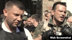 Бойовики Олександр Захарченко (л) і Вадим Погодін (п)