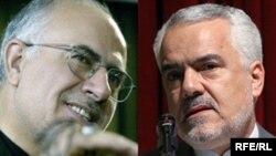 محمد رضا رحیمی، معاون حقوقی و پارلمانی رییس جمهوری (راست) و علی کردان، وزیر کشور دولت نهم.