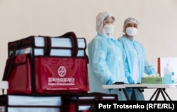 Коронавирусты анықтайтын тест орталығы. Алматы, 14 мамыр 2020 жыл.