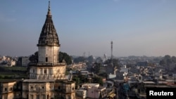 The ruling on November 9 clears the way for the construction of a Hindu temple on a site in the northern Indian town of Ayodhya. (file photo)
