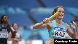 Виктория Зябкина, легкоатлетка из Казахстана, на универсиаде в Южной Корее.