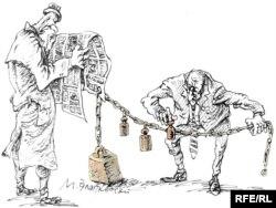 Mətbuat azadlığı. Karikatura.