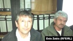 Ilija Alavanja i Sretko Gagić na identifikaciji njihovog djeda i oca Vladimira Gagića, 1. travnja 2015. foto: Enis Zebić