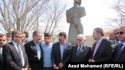 الرئيس فؤاد معصوم في حلبجة، في 03 آذار 2015