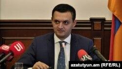 И. о. заместителя министра финансов Арман Погосян, Ереван, 4 декабря 2018 г.