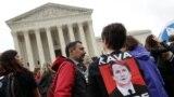 Протесты у здания Верховного суда США