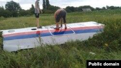 Ուկրաինա - «Մալազիական ավիաուղիներ»-ի կործանված «Բոինգ»-ի բեկորները Դոնեցկի մարզում, 17-ը հուլիսի, 2014թ․