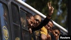 Палестинські в'язні, випущені з ізраїльських тюрем, Газа, 18 жовтня 2011 року