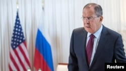 Switzerland - Russian Foreign Minister Sergei Lavrov before a bilateral meeting with U.S. Secretary of State John Kerry (not pictured) in Geneva, Switzerland August 26, 2016