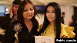 Режиссер Айнур Исмаилова (слева), автор фильма «Көке».