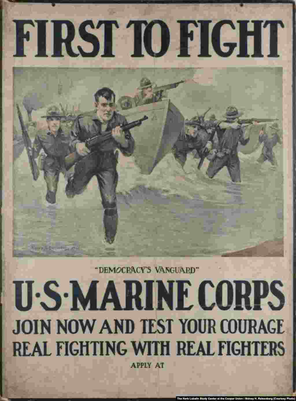 A U.S. Marine Corps recruitment poster from 1917
