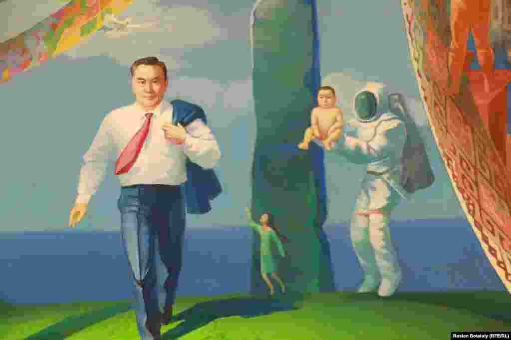 Фрагмент картины Аманата Назаркулова «Алтын гасыр» («Золотой век»).