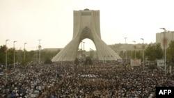 تصویری از تظاهرات اعتراضی به نتیجه انتخابات در تهران