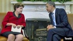 Барак Обама с президентом Бразилии Дилмой Русеф