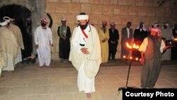 شعائر أيزيدية في معبد لالش قرب دهوك