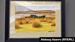Акварель «Аральское море», созданная Карипбеком Куюковым в 1991 году.
