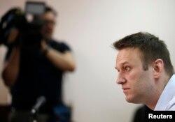 Алексей Навальный на слушаниях в суде в Москве. 14 августа 2014 года