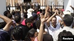 Акцыя пратэсту ў Тунісе 14 жніўня 2012