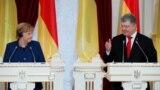 Ангела Меркель встретилась в Киеве с Петром Поршенко