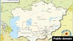 Страны Центральной Азии на карте.