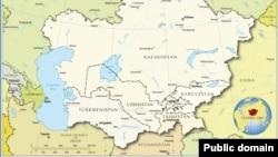 Орталық Азия елдерінің картасы. (Көрнекі сурет)