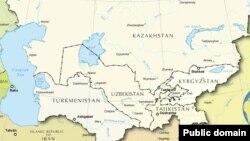 Карта Центральной Азии.