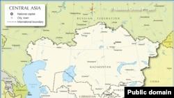 Борбор Азиянын саясий картасы