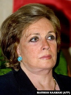 جیهان سادات، همسر محمد انور سادات، در سال ۲۰۰۱