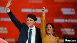 Премьер-министр Канады Джастин Трюдо и его жена Софи Грегуар-Трюдо.