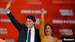 Премьер-министр Канады Джастин Трюдо с женой