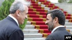 محمود احمدی نژاد و میشل سليمان، رييس جمهوری لبنان در تهران