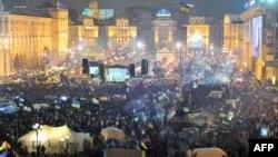 Kiyevin mərkəzindənki Azadlıq meydanı