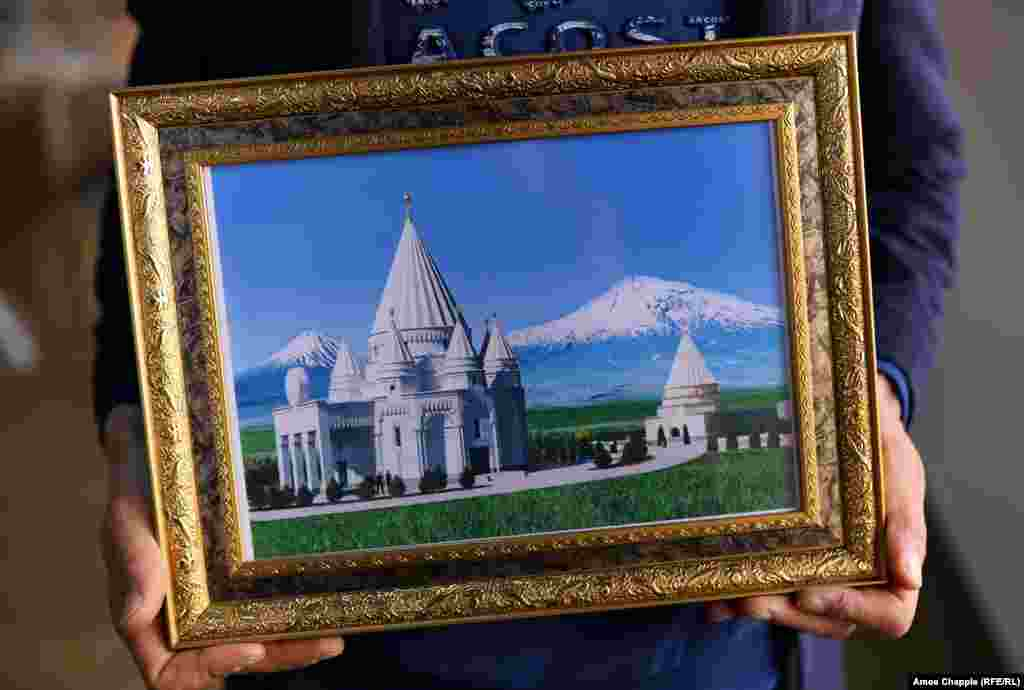 But whether or not the construction in Aknalich will signal a pivot from the Middle East to Armenia, the pictures and T-shirts featuring this image of the future temple suggest that, at the very least, it will be a source of immense pride for Yazidis around the world.