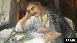 Максім Багдановіч і ягоны «Вянок». Карціна ў музэі паэта ў Горадні