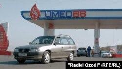 АЗС нефтяной компании «Умед-88» в городе Душанбе.