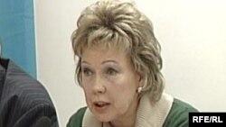 """Людмила Жуланова, """"Ақжол"""" партиясы төрағасының орынбасары. Астана, 23 ақпан, 2009 жыл."""