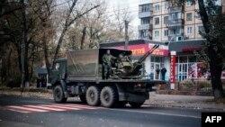Вооруженные сепаратисты в Донецке