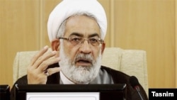 Attorney General, Mohammad Jafar Montazeri speaking in a meeting, undated.